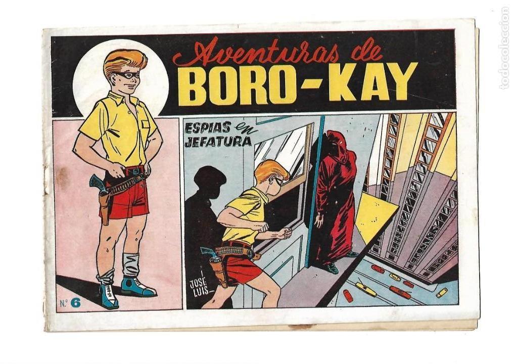 Tebeos: Aventuras de Boro-Kay, Año 1956 Colección Completa son 8. Tebeos Originales dibujos de José Luis - Foto 12 - 146915522