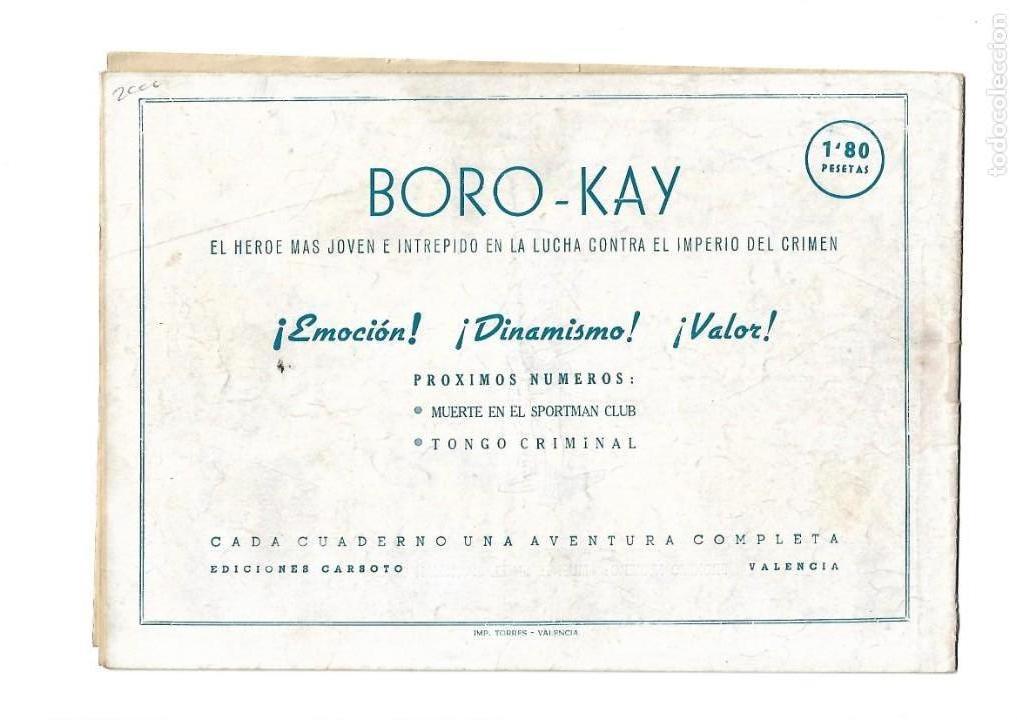 Tebeos: Aventuras de Boro-Kay, Año 1956 Colección Completa son 8. Tebeos Originales dibujos de José Luis - Foto 13 - 146915522
