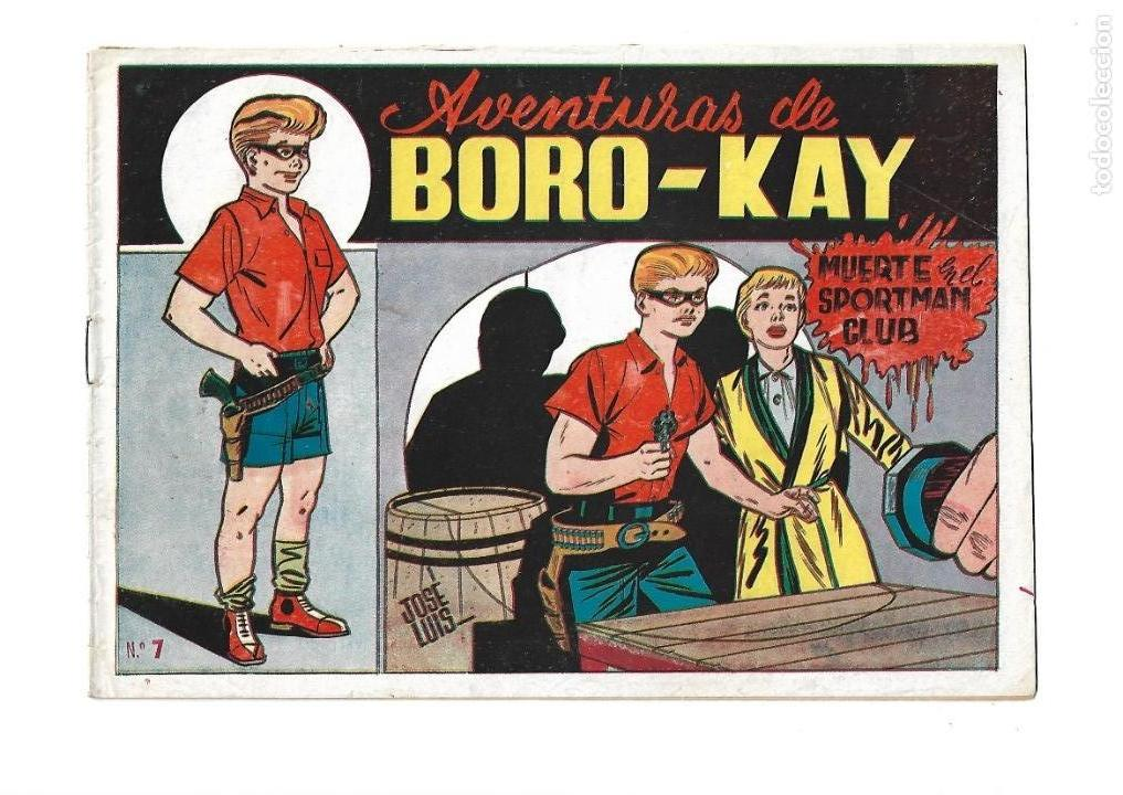 Tebeos: Aventuras de Boro-Kay, Año 1956 Colección Completa son 8. Tebeos Originales dibujos de José Luis - Foto 14 - 146915522