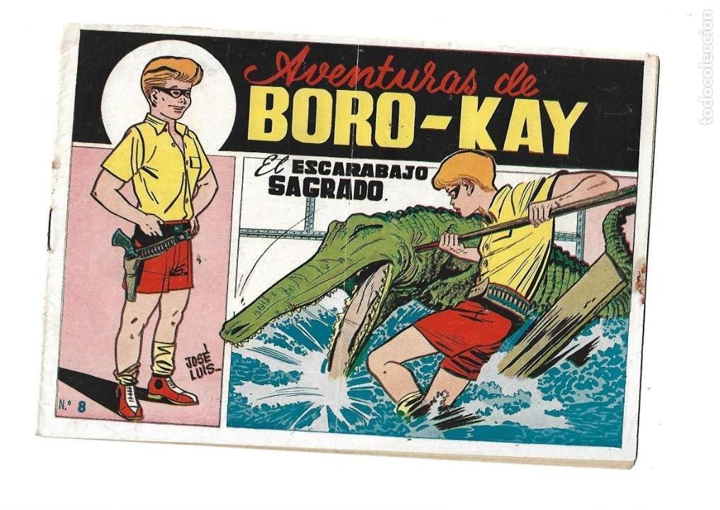 Tebeos: Aventuras de Boro-Kay, Año 1956 Colección Completa son 8. Tebeos Originales dibujos de José Luis - Foto 16 - 146915522