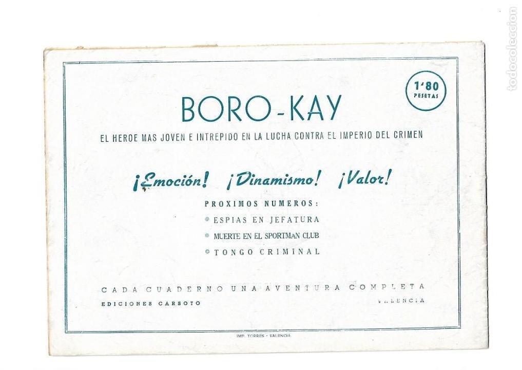 Tebeos: Aventuras de Boro-Kay, Año 1956 Colección Completa son 8. Tebeos Originales dibujos de José Luis - Foto 11 - 146915522