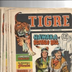 Tebeos: TIGRE, AÑO 1960 COLECCIÓN COMPLETA SON 8. TEBEOS ORIGINALES NUEVOS EDITORIAL FERMA.. Lote 146932374