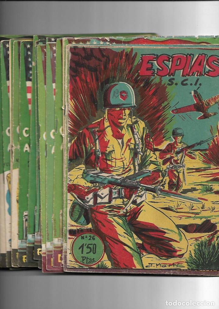 S.C.I. CONTRAESPIONAJE AMERICANO AÑO 1954 COLECCIÓN COMPLETA SON 26 TEBEOS ORIGINALES NUNCA VISTA (Tebeos y Comics - Tebeos Colecciones y Lotes Avanzados)
