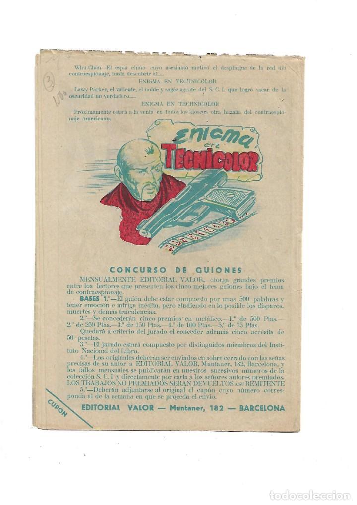 Tebeos: S.C.I. Contraespionaje Americano Año 1954 Colección Completa son 26 Tebeos Originales nunca vista - Foto 7 - 147229250