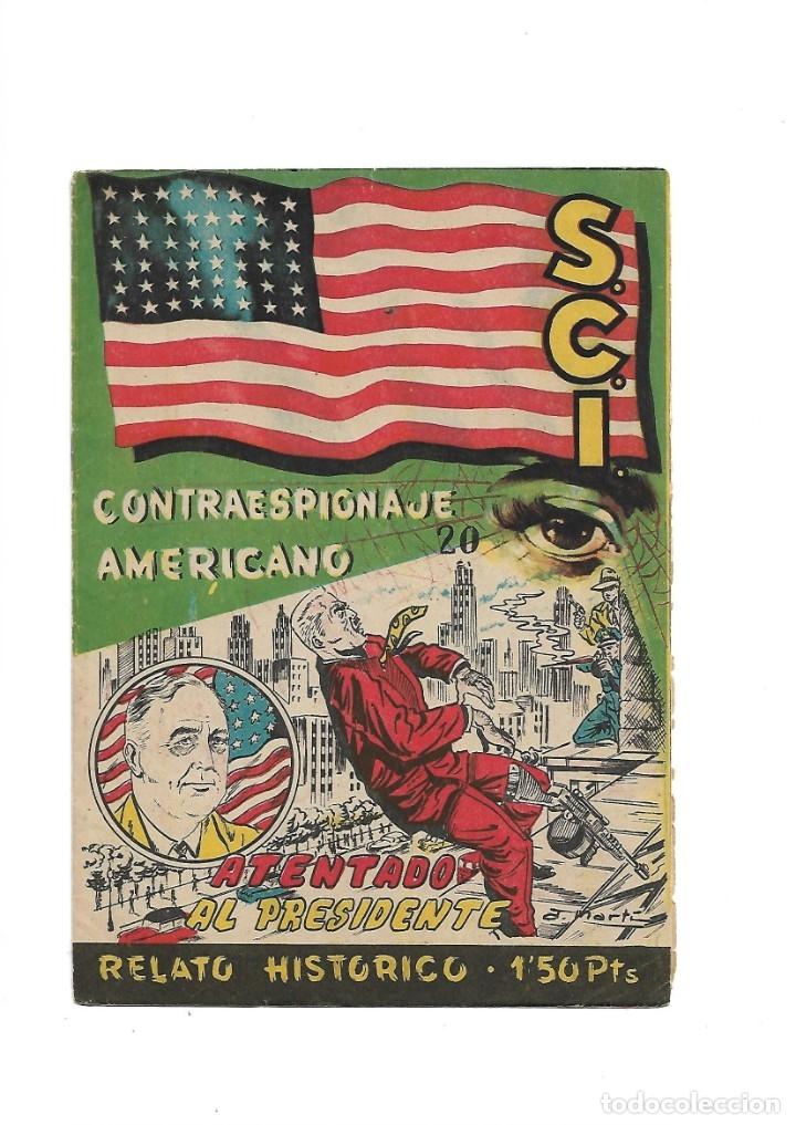Tebeos: S.C.I. Contraespionaje Americano Año 1954 Colección Completa son 26 Tebeos Originales nunca vista - Foto 40 - 147229250