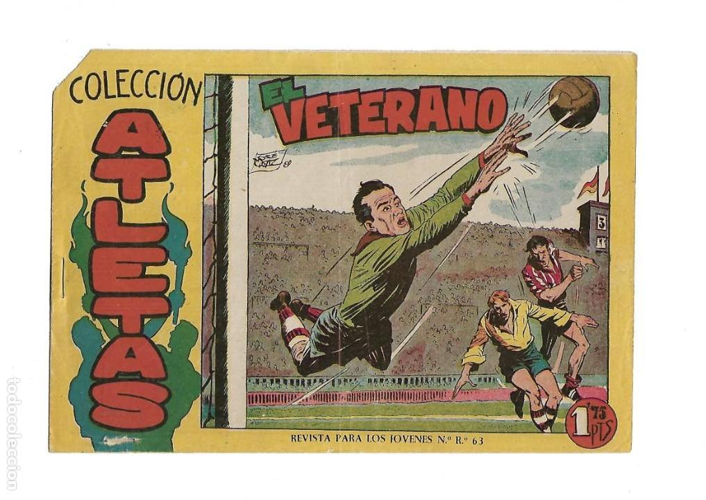 Tebeos: Atletas, Año 1958 Colección Completa son 7 Tebeos Originales hay 4 tebeos sin abrir Dibujos J. Ortiz - Foto 2 - 147317690