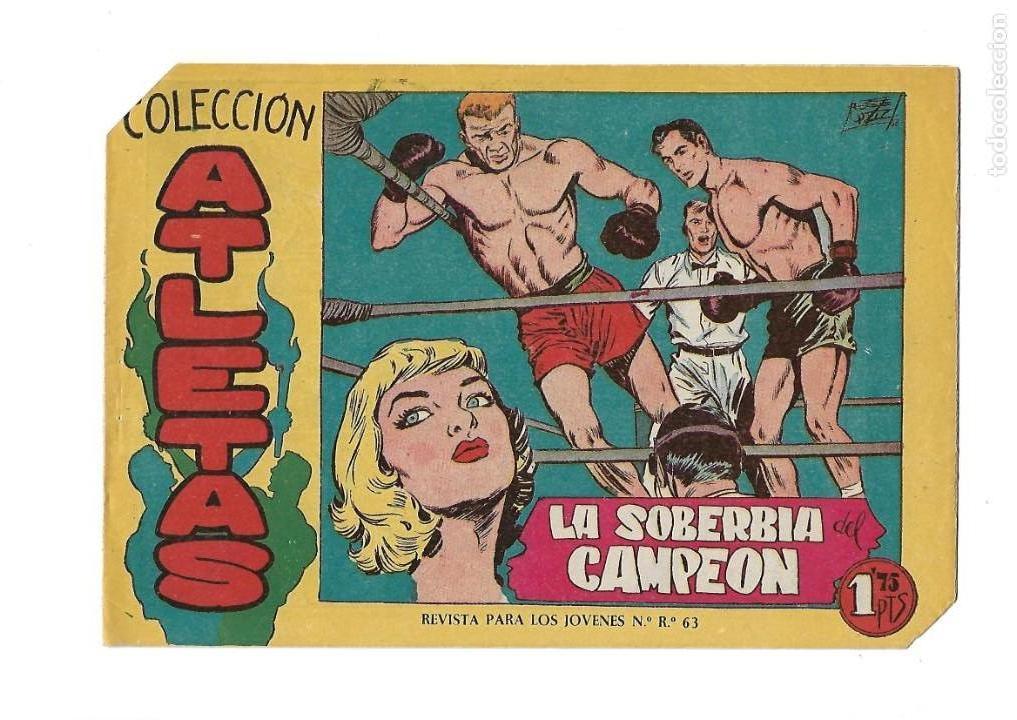 Tebeos: Atletas, Año 1958 Colección Completa son 7 Tebeos Originales hay 4 tebeos sin abrir Dibujos J. Ortiz - Foto 4 - 147317690