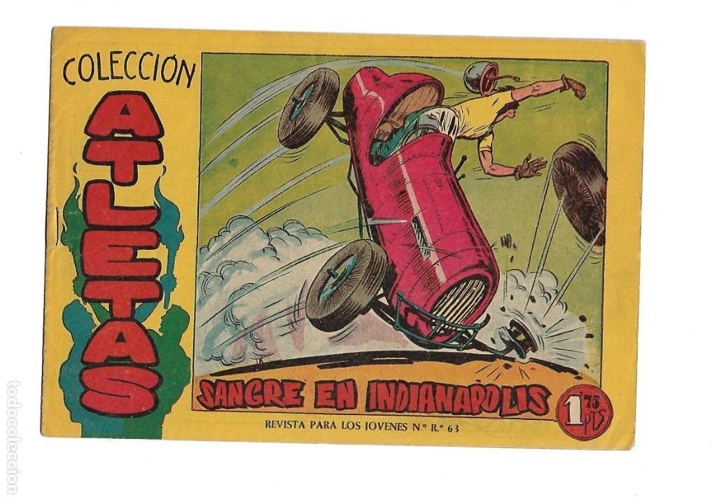 Tebeos: Atletas, Año 1958 Colección Completa son 7 Tebeos Originales hay 4 tebeos sin abrir Dibujos J. Ortiz - Foto 6 - 147317690