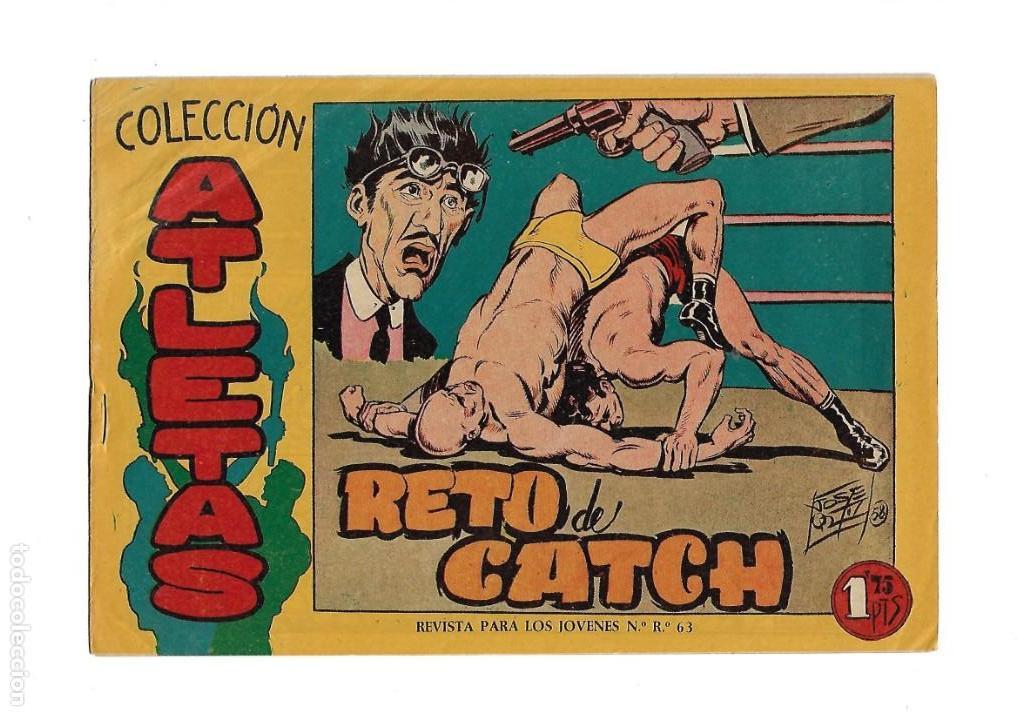 Tebeos: Atletas, Año 1958 Colección Completa son 7 Tebeos Originales hay 4 tebeos sin abrir Dibujos J. Ortiz - Foto 8 - 147317690