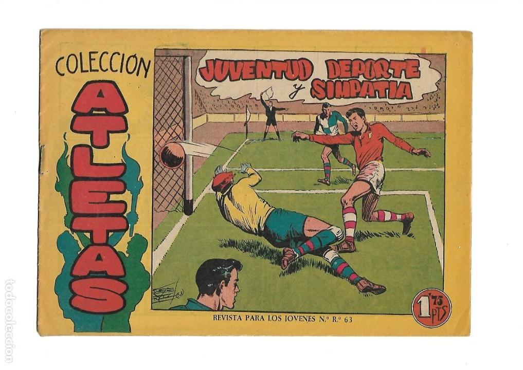 Tebeos: Atletas, Año 1958 Colección Completa son 7 Tebeos Originales hay 4 tebeos sin abrir Dibujos J. Ortiz - Foto 10 - 147317690