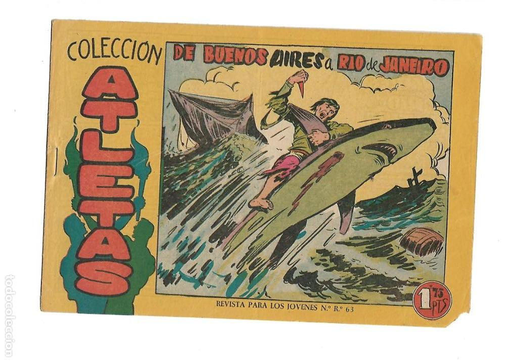 Tebeos: Atletas, Año 1958 Colección Completa son 7 Tebeos Originales hay 4 tebeos sin abrir Dibujos J. Ortiz - Foto 12 - 147317690