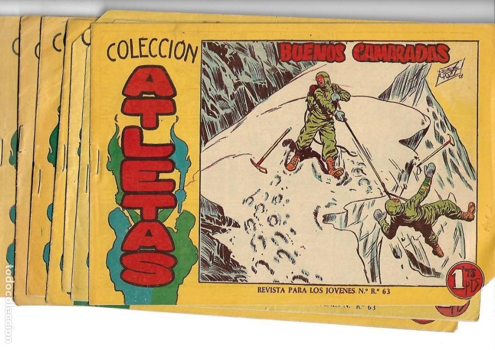 ATLETAS, AÑO 1958 COLECCIÓN COMPLETA SON 7 TEBEOS ORIGINALES HAY 4 TEBEOS SIN ABRIR DIBUJOS J. ORTIZ (Tebeos y Comics - Tebeos Colecciones y Lotes Avanzados)