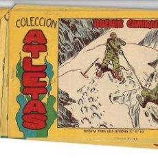 Tebeos: ATLETAS, AÑO 1958 COLECCIÓN COMPLETA SON 7 TEBEOS ORIGINALES HAY 4 TEBEOS SIN ABRIR DIBUJOS J. ORTIZ. Lote 147317690