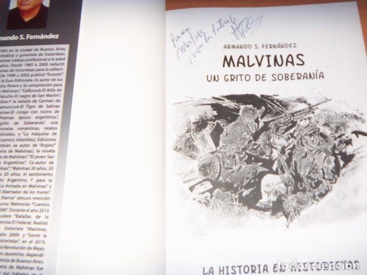 Tebeos: MALVINAS UN GRITO DE SOBERANIA, LIBRO/COMICS COMBATES, TERRESTRES , AERONAVALES EN COMICS - Foto 2 - 150848238