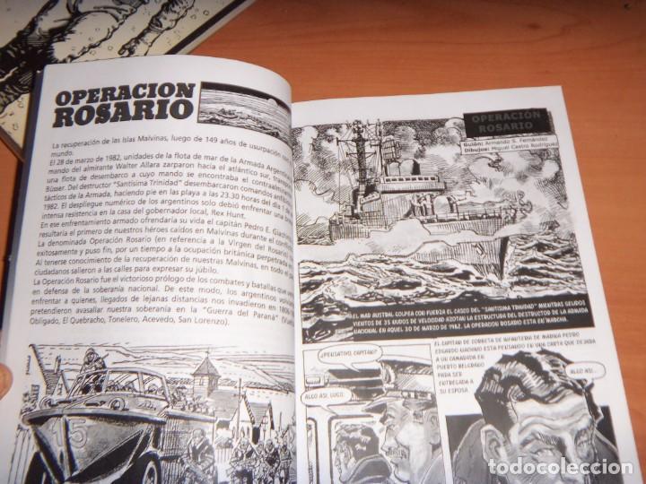 Tebeos: MALVINAS UN GRITO DE SOBERANIA, LIBRO/COMICS COMBATES, TERRESTRES , AERONAVALES EN COMICS - Foto 3 - 150848238