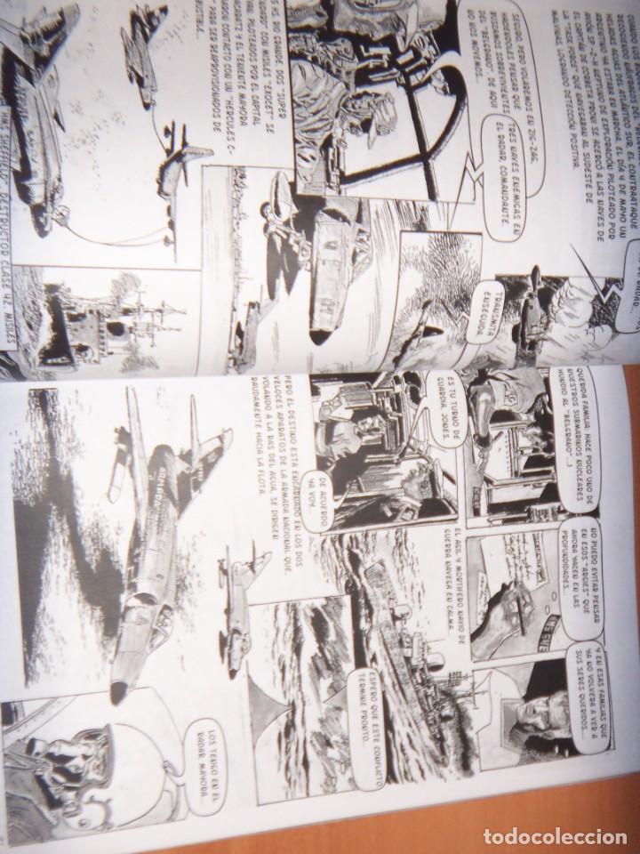 Tebeos: MALVINAS UN GRITO DE SOBERANIA, LIBRO/COMICS COMBATES, TERRESTRES , AERONAVALES EN COMICS - Foto 4 - 150848238