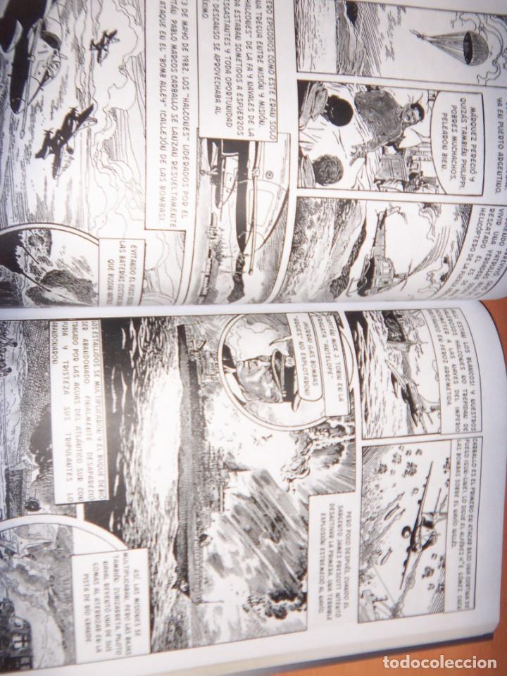 Tebeos: MALVINAS UN GRITO DE SOBERANIA, LIBRO/COMICS COMBATES, TERRESTRES , AERONAVALES EN COMICS - Foto 5 - 150848238