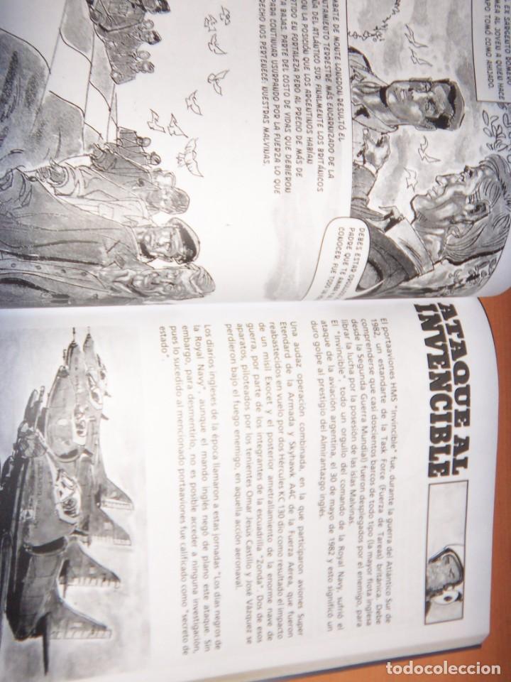 Tebeos: MALVINAS UN GRITO DE SOBERANIA, LIBRO/COMICS COMBATES, TERRESTRES , AERONAVALES EN COMICS - Foto 9 - 150848238