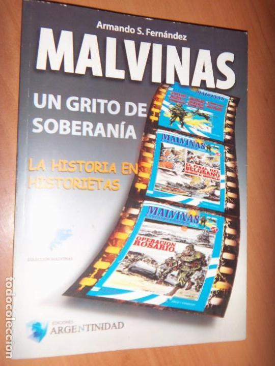MALVINAS UN GRITO DE SOBERANIA, LIBRO/COMICS COMBATES, TERRESTRES , AERONAVALES EN COMICS (Tebeos y Comics - Tebeos Colecciones y Lotes Avanzados)