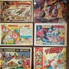 Tebeos: LOTE DE 6 NºS 1 - CAPITAN TRUENO, EL CACHORRO, HAZAÑAS BÉLICAS, EL GUERRERO .... Lote 143864098