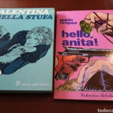 Tebeos: LOTE 2 TOMOS GUIDO CREPAX: VALENTINA NELLA STUFA (EN ITALIANO) Y HELLO, ANITA!. Lote 151404909