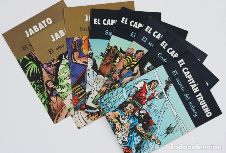 LOTE 8 TEBEOS DE CAPITÁN TRUENO Y JABATO (Tebeos y Comics - Tebeos Pequeños Lotes de Conjunto)
