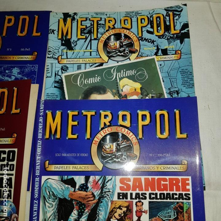 Tebeos: METROPOL- Nº 1-2-3-8 . METRO COMICS - Foto 2 - 152560554