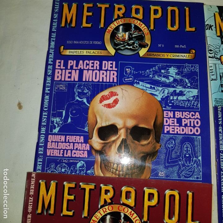 Tebeos: METROPOL- Nº 1-2-3-8 . METRO COMICS - Foto 3 - 152560554
