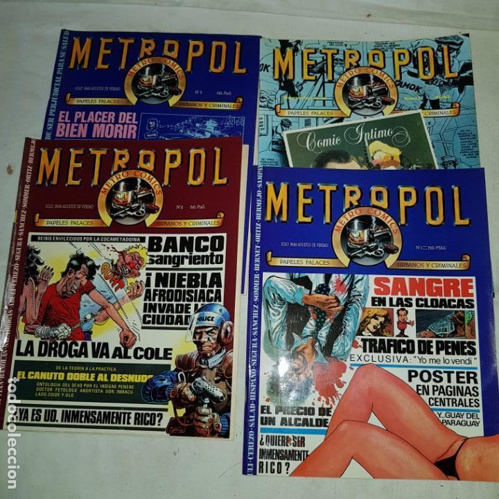 METROPOL- Nº 1-2-3-8 . METRO COMICS (Tebeos y Comics - Tebeos Pequeños Lotes de Conjunto)