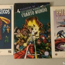 Tebeos: LOTE 3 COMICS, CLÁSICOS DC CUARTO MUNDO, LOS CUATRO FANTÁSTICOS N°3 Y PATRULLA X N°1. Lote 152584077
