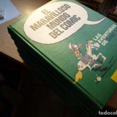 Tebeos: EL MARAVILLOSO MUNDO DEL COMIC - SIETE TOMOS - TAPA DURA - EDICIONES JUNIOR. Lote 153573842