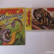 Tebeos: AFRICA COLECCION COMPLETA CON EL ALMANAQUE EDITORIAL MAGA ORIGINAL. Lote 153800810