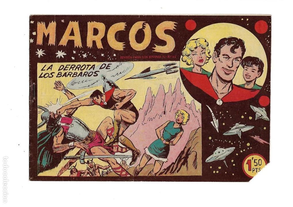 Tebeos: Marcos, Año 1958. Colección Completa son 30. Tebeos Originales Dibujante Manuel Gago. - Foto 4 - 154462038
