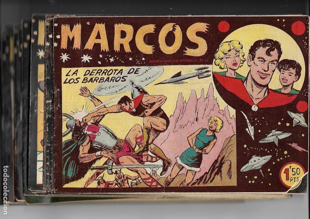 MARCOS, AÑO 1958. COLECCIÓN COMPLETA SON 30. TEBEOS ORIGINALES DIBUJANTE MANUEL GAGO. (Tebeos y Comics - Tebeos Colecciones y Lotes Avanzados)