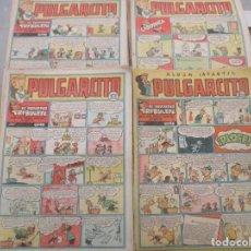 Tebeos: GRAN LOTE PULGARCITO - 91 EJEMPLARES - DEL Nº 50 AL 264 - INSPECTOR DAN -CRUZ DE FUEGO - BRUGUERA. Lote 155072902