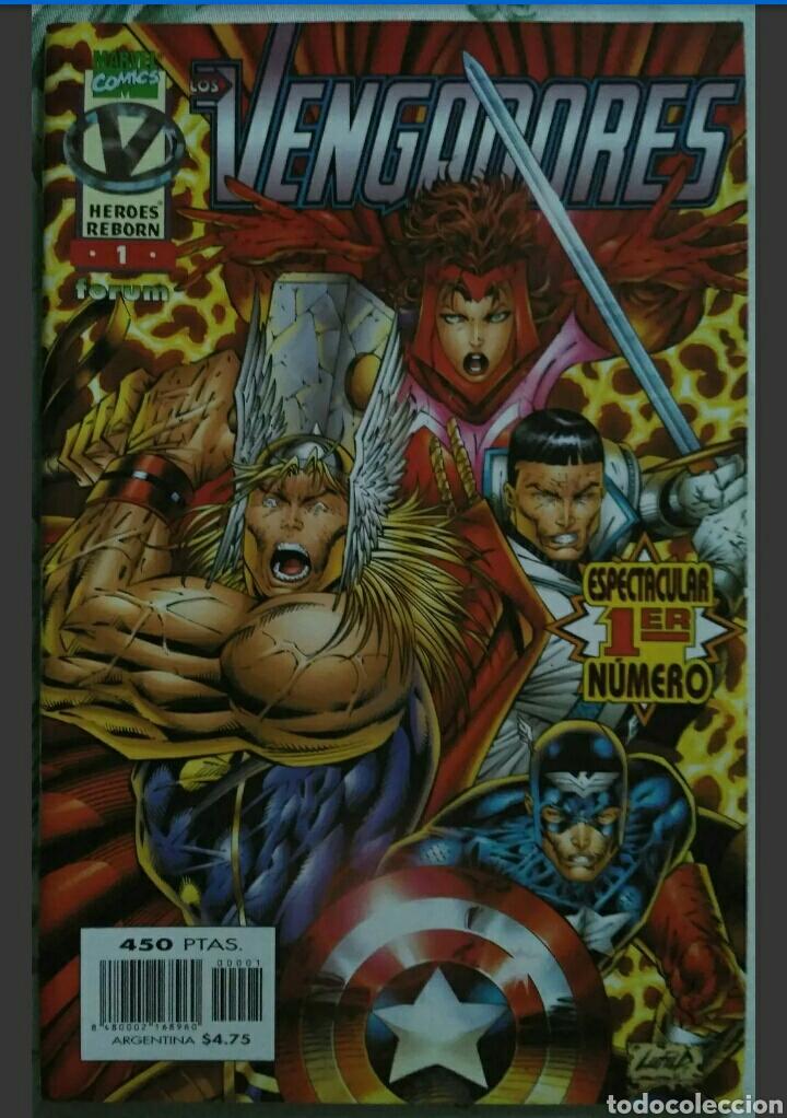 LOTE 12 CÓMICS LOS VENGADORES VOL.2 HEROES REBORN COLECCIÓN COMPLETA (FORUM) (Tebeos y Comics - Tebeos Colecciones y Lotes Avanzados)