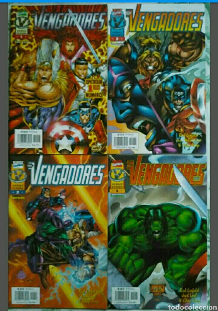 Tebeos: LOTE 12 CÓMICS LOS VENGADORES vol.2 HEROES REBORN colección completa (FORUM) - Foto 2 - 155212305