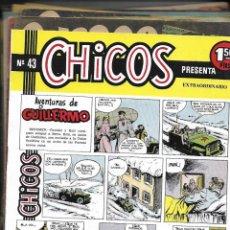 Tebeos: CHICOS, AÑO 1954. COLECCIÓN COMPLETA SON 69. TEBEOS ORIGINALES MUY NUEVOS EDICIONES CID. Lote 155327734