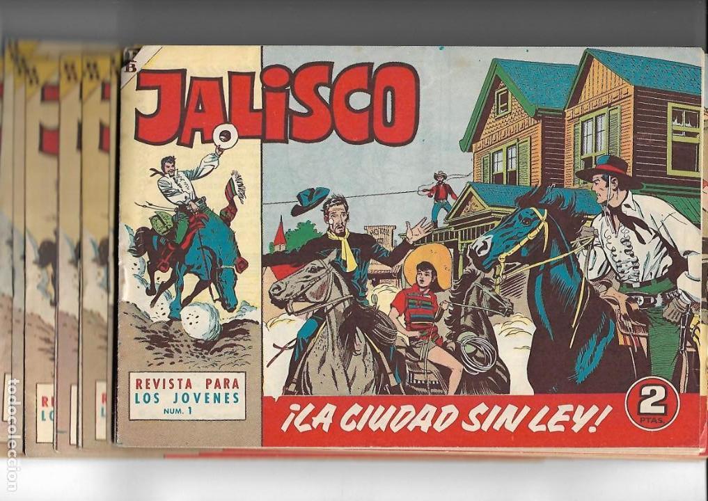 JALISCO, AÑO 1963. COLECCIÓN COMPLETA, SON 20. TEBEOS ORIGINALES DIBUJOS DE JOSÉ GONZÁLEZ. (Tebeos y Comics - Tebeos Colecciones y Lotes Avanzados)