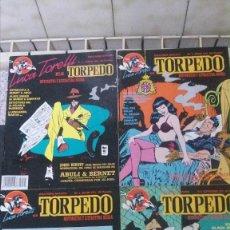 Tebeos: LUCA TORELLI-TORPEDO-1991-NUMEROS 1-2-3-4 (ABULI Y BERNET)-COMIC DE SERIE NEGRA-COMPLETA. Lote 158553438