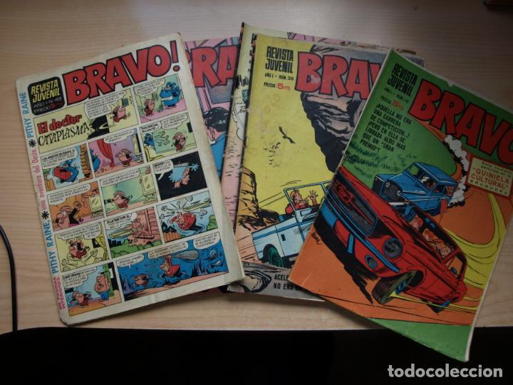 BRAVO - LOTE DE 6 NÚMEROS - 10, 20, 25, 25, 32, 43 - BRUGUERA (Tebeos y Comics - Tebeos Pequeños Lotes de Conjunto)