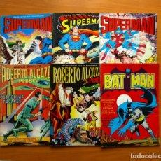 Tebeos: ÁLBUMES GIGANTES - EDITORIAL VALENCIANA 1975 - SUPERMAN, BATMAN, ROBERTO ALCAZAR, COMPLETA. Lote 128245535