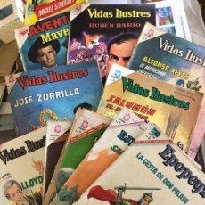 Livros de Banda Desenhada: EPOPEYA Nº 105 VIDAS ILUSTRES 138-134-128-127-121 AVENTURA 238 YVIDAS EJEMPLARES 219-231 Y 227. Lote 162042730