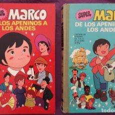 Tebeos: SUPER MARCO (DE LOS APENINOS A LOS ANDES),TOMOS 1 Y 2 (1977) -VER DESCRIPCIÓN Y FOTOS-. Lote 163961530
