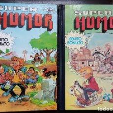 Tebeos: BENITO BONIATO, COLECCIÓN COMPLETA DE 2 TOMOS DE SUPER HUMOR - EDICIÓN ÚNICA (1984-1985) VER FOTOS. Lote 164658258