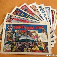 Tebeos: CAZANDO FIERAS VIVAS - COLECCIÓN COMPLETA, 9 EJEMPLARES - EDIT. HISPANO AMERICANA 1941 - VER FOTOS . Lote 164686250