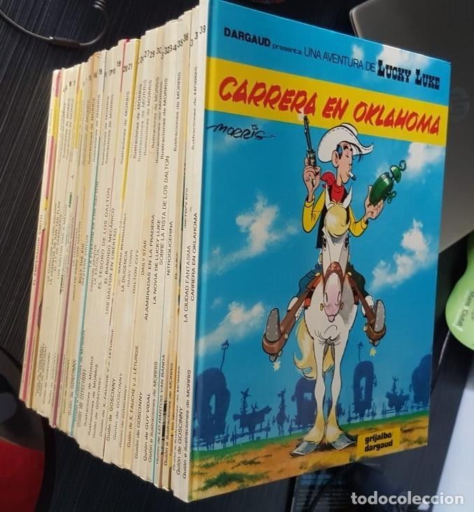 GRAN LOTE LUCKY LUKE 37 NºS DE 1980 A 1989, SEGUIDOS, - VER FOTOS, NºS Y TÍTULOS (Tebeos y Comics - Tebeos Colecciones y Lotes Avanzados)