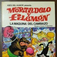 Tebeos: ASES DEL HUMOR, Nº 9 - MORTADELO Y FILEMÓN, LA MÁQUINA DEL CAMBIAZO - ED. BRUGUERA - 1979 - BUENO. Lote 165421062