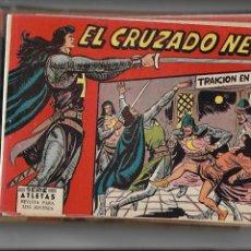 Tebeos: EL CRUZADO NEGRO, AÑO 1961. COLECCIÓN COMPLETA SON 56. TEBEOS ORIGINALES DIBUJADA POR MANUEL GAGO.. Lote 165675346
