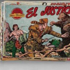 Tebeos: DAVY CROCKETT, AÑO 1959 LOTE DE 28 TEBEOS ORIGINALES DIBUJANTE MARTINEZ EDITORIAL FERMA.. Lote 165704550